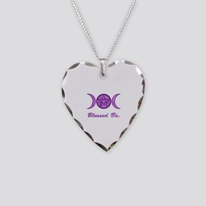Blessed Be (Purple) Necklace Heart Charm