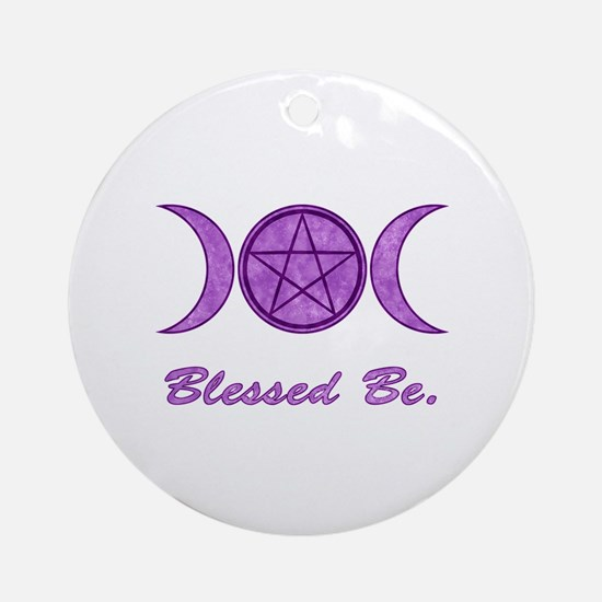 Blessed Be (Purple) Ornament (Round)