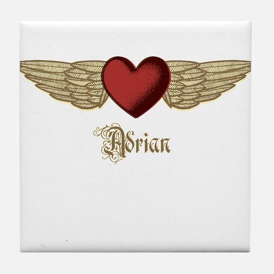 Adrian the Angel Tile Coaster