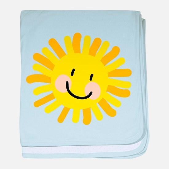 Sun Child Drawing baby blanket