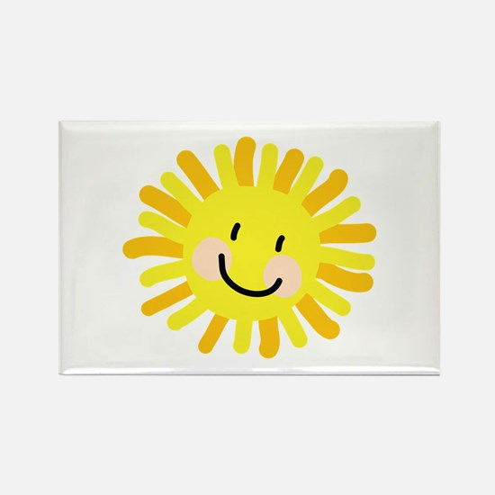 Sun Child Drawing Rectangle Magnet