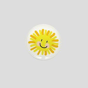 Sun Child Drawing Mini Button