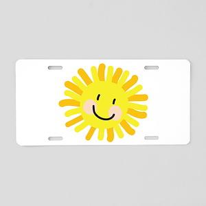 Sun Child Drawing Aluminum License Plate