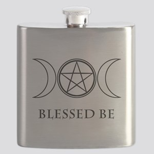 Blessed Be (Black & White) Flask