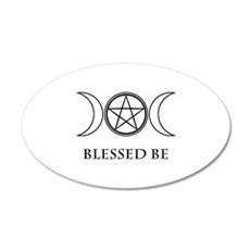 Blessed Be (Black & White) Wall Decal