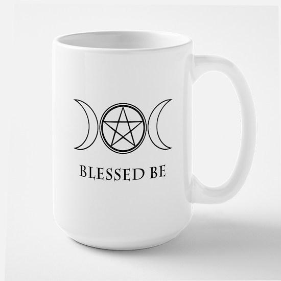 Blessed Be (Black & White) Large Mug