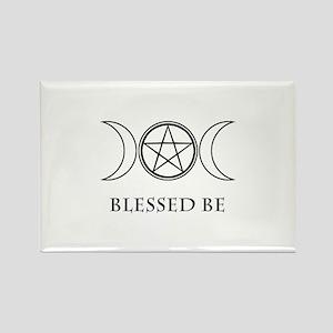 Blessed Be (Black & White) Rectangle Magnet