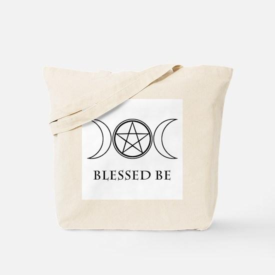 Blessed Be (Black & White) Tote Bag