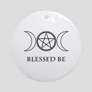 Blessed Be (Black & White) Ornament (Round)
