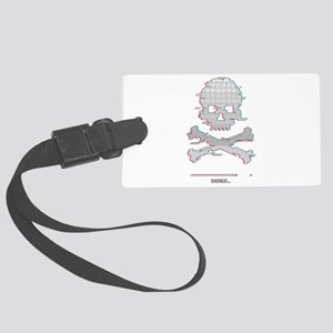 Game over Loading Stereo Glitch Large Luggage Tag