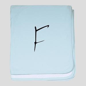 Elementary Monogram F baby blanket