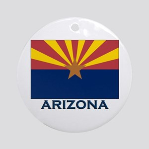 Arizona Flag Gear Ornament (Round)