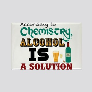 Alcohol is a Solution Rectangle Magnet