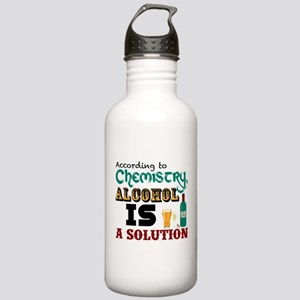 Alcohol is a Solution Water Bottle