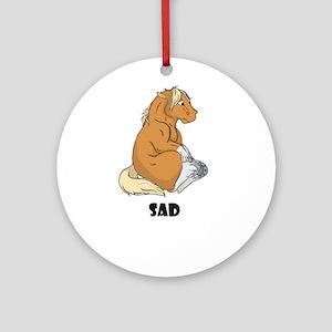Sad little horse Ornament (Round)