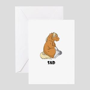 Sad little horse Greeting Card