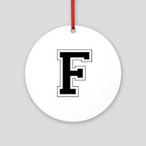 Collegiate Monogram F Ornament (Round)