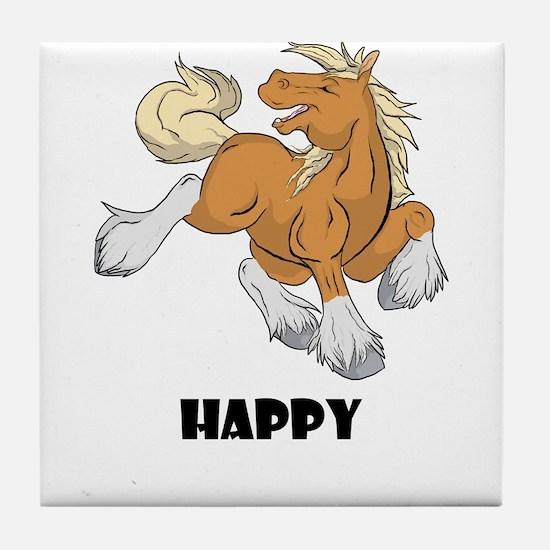 Happy Horse Tile Coaster