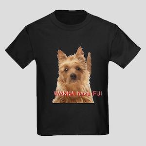 aussie terrier Kids Dark T-Shirt