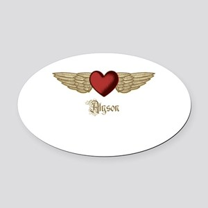 Alyson the Angel Oval Car Magnet