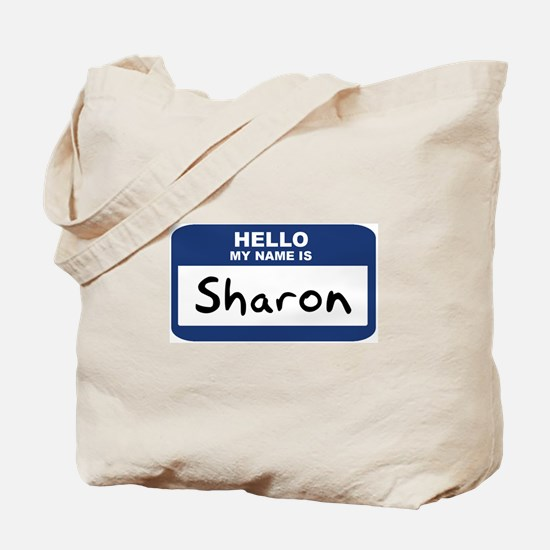 Hello: Sharon Tote Bag