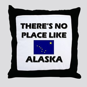 There Is No Place Like Alaska Throw Pillow