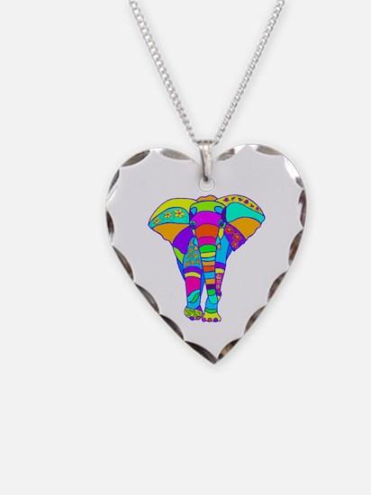 Elephant Colored Designed Necklace