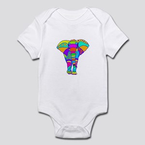 Elephant Colored Designed Infant Bodysuit