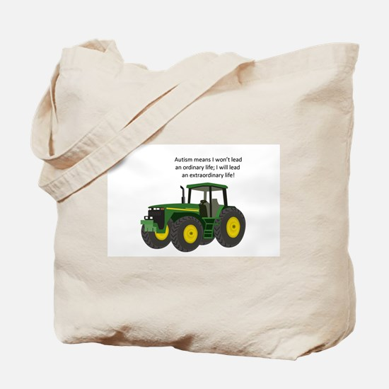 Autism Tractor Tote Bag