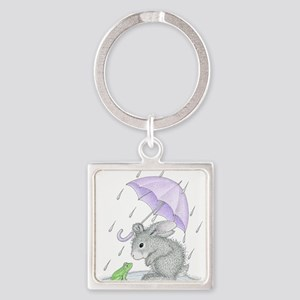 Puddle Fun Square Keychain