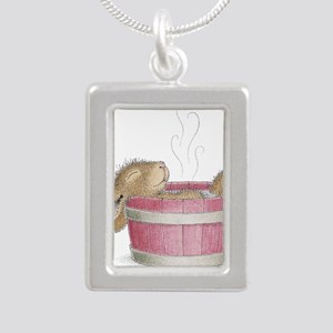 HappyHoppers® - Bunny - Silver Portrait Necklace