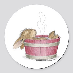 HappyHoppers® - Bunny - Round Car Magnet
