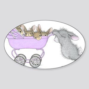 HappyHoppers® - Bunny - Sticker (Oval)