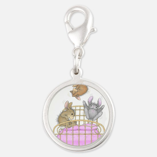HappyHoppers® - Bunny - Silver Round Charm