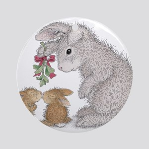 Bunny Kisses Ornament (Round)