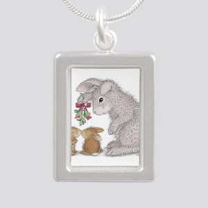Bunny Kisses Silver Portrait Necklace