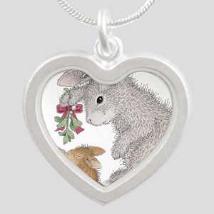Bunny Kisses Silver Heart Necklace