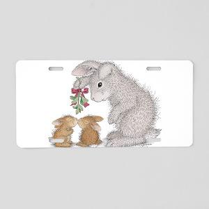 Bunny Kisses Aluminum License Plate