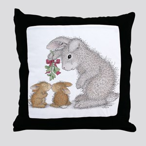 Bunny Kisses Throw Pillow