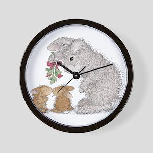 Bunny Kisses Wall Clock