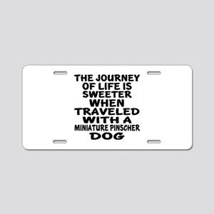 Traveled With Miniature Pin Aluminum License Plate