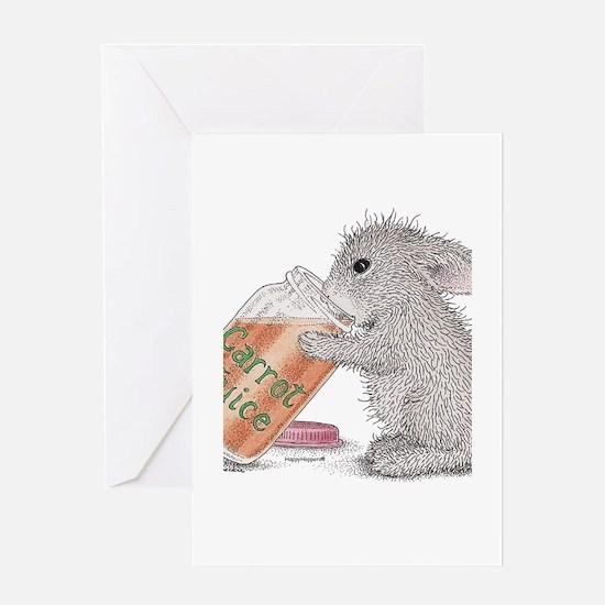 Carrot Juice - Greeting Card
