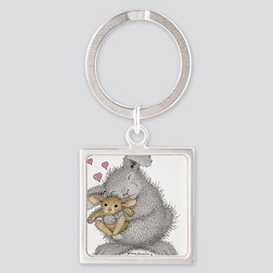 Love Bunny - Square Keychain