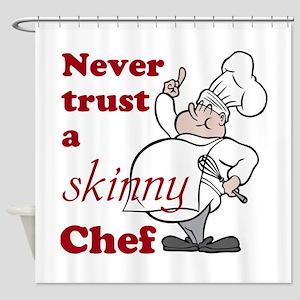 Skinny Chef Shower Curtain
