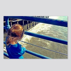 Little Girl on a Big Pier Postcards (Package of 8)
