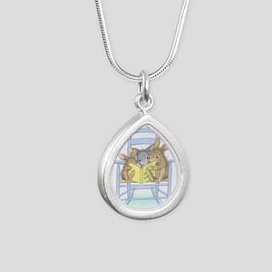 Tall Tales Silver Teardrop Necklace