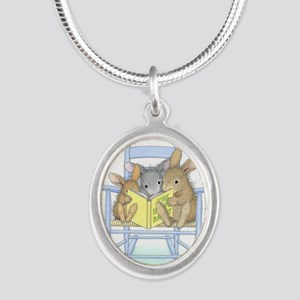 Tall Tales Silver Oval Necklace