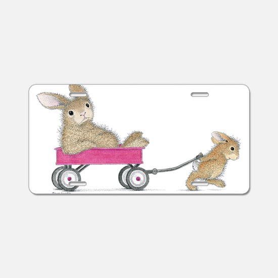 Wagon Ride Aluminum License Plate