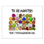 'Tis The Monsters Small Poster