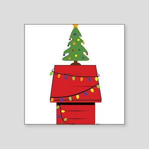 Holiday Dog House Sticker